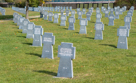 nazis: VAZEC, SLOVAKIA - OCTOBER 30: Military cemetery from World war two on October 30, 2015 in Vazec