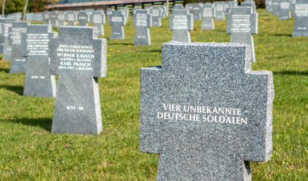 VAZEC, SLOVAKIA - OCTOBER 30: Military cemetery from World war two on October 30, 2015 in Vazec