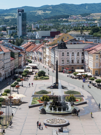 BANSKA BYSTRICA, SLOVAKIA - JULY 27: Square in centre of town  on July 27, 2015 in Banska Bystrica