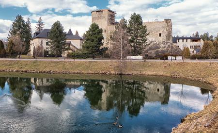 liptov: Historical Grand castle in Liptovsky Hradok, Slovakia