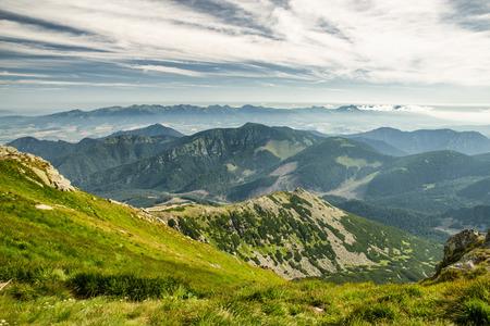 tatras: Mountain landscape from hill Chopok in Low Tatras. Slovakia