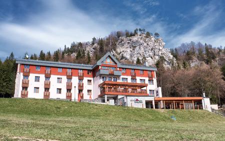 ruzomberok: MALINO BRDO, SLOVAKIA - APRIL 29: Mountain hotel Malina at resort Malino Brdo on April 29, 2016 in Malino Brdo Editorial