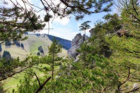 ruzomberok: Rock formations called Haliny at Malino Brdo, Slovakia
