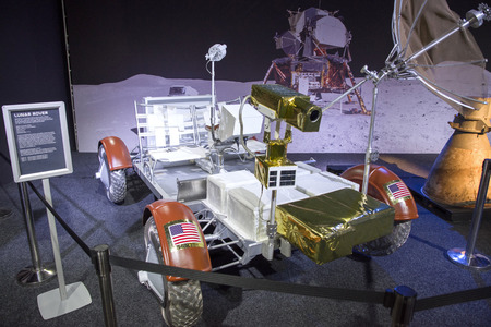 BRATISLAVA, SLOVAKIA - NOVEMBER 9:  NASA lunar module at exhibition Cosmos on November 9, 2016 in Bratislava