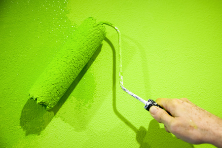 flashy: Painting with flashy green color
