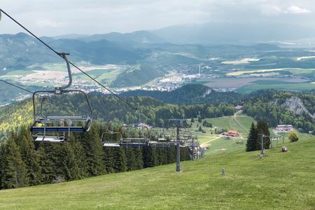 ruzomberok: Cableway in resort Malino Brdo, Slovakia