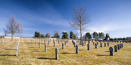 nazis: German military cemetery  in Vazec, Slovakia