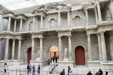 BERLIN, GERMANY - APRIL 7: Market gate of Miletus town in Pergamon museum on April 7, 2017 in Berlin Editorial