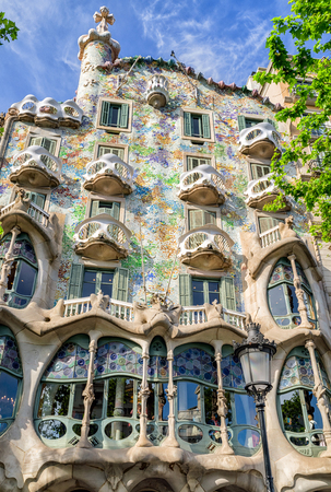 BARCELONA, SPAIN - APRIL 20:  House Casa Batllo designed by  Antoni Gaudi  on April 20, 2017 in Barcelona