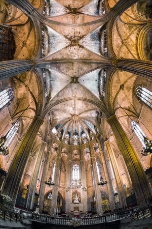 catalunya: Interior of The cathedral of the Holy Cross, Barcelona - Spain Editorial