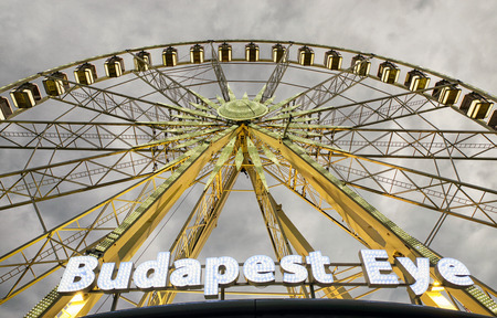 BUDAPEST, HUNGARY - MAY 5: Ferris wheel called Budapest eye in Budapest on May 5, 2017 Editorial