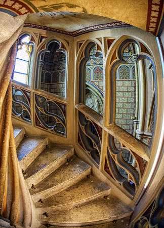 turnpike: Spiral staircase in Matthias church in Budapest, Hungary