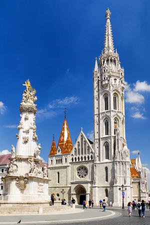 BUDAPEST, HUNGARY - MAY 6: Matthias church in Buda castle hill on May 6, 2017 in Budapest