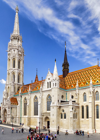 st: BUDAPEST, HUNGARY - MAY 6: Matthias church on May 6, 2017 in Budapest