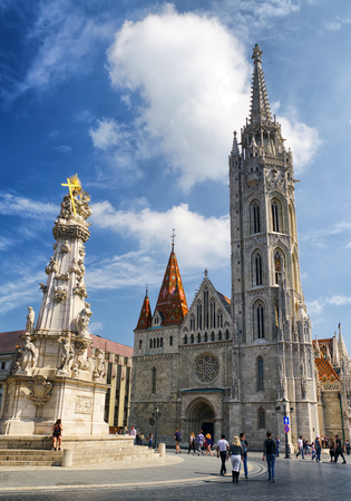 BUDAPEST, HUNGARY - MAY 6: Matthias Church located in castle hill on May 6, 2017 in Budapest