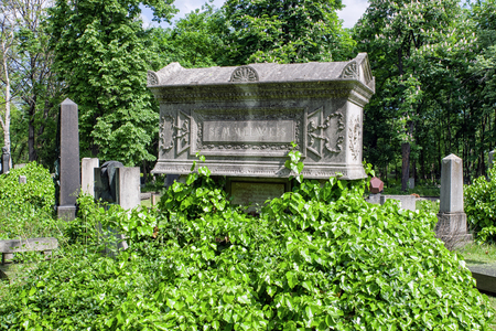 BUDAPEST, HUNGARY - MAY 8:  Kerepesi - historic cemetery on May 8, 2017 in Budapest Editorial