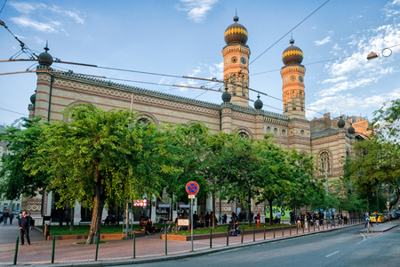 BUDAPEST, HUNGARY - MAY 7:  Great jewish synagogue on May 7, 2017 in Budapest
