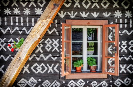 shutter: Rural cottage in village CIcmany, Slovakia