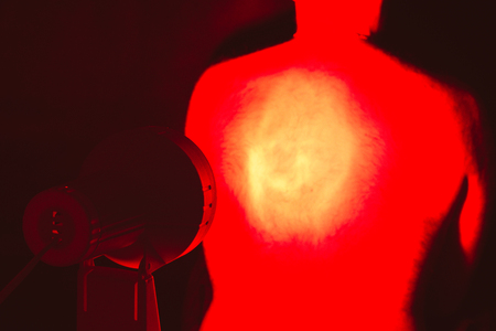 infra red: Back pain. Infrared heat  light lamp therapy.