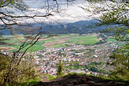 ruzomberok: Small town Ruzomberok from hill Cebrat in Slovakia