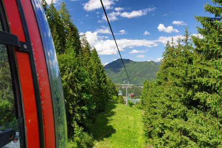 ruzomberok: RUZOMBEROK? SLOVAKIA - JUN 20: Ropeway in mountain resort Malino Brdo on Jun 20, 2016 in Ruzomberok
