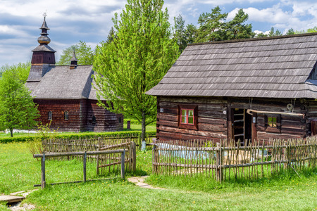 STARA LUBOVNA,  SLOVAKIA - MAY 20: Rural house in museum of folk architecture on May 20, 2017 in Stara Lubovna Editorial