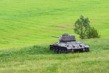 Russian tank T-34 in Valley of death - Dukla paas from World War II in Svidnik, Slovakia