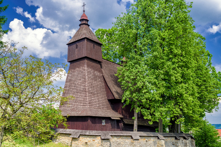 The Roman Catholic wooden Church of St Francis of Assisi in Hervartov, Slovakia