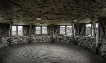 Inside of tower in Lubovna castle, SLovakia Editorial