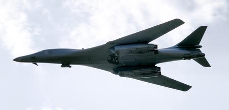 SLIAC, SLOVAKIA - AUGUST 27: Bomber B-1 Bone Lancer at airshow SIAF 2017 on August 27, 2017 in Sliac Editorial