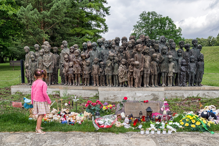 LIDICE, CZECH REPUBLIC - JULY 4: Memorial to the Children Victims of the War on July 4, 2017 in Lidice Editorial