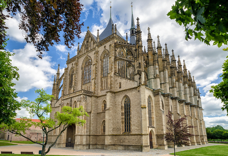 Saint Barbara roman catholic church in town Kutna Hora, Czech republic Stock Photo