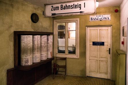 KRAKOW, POLAND - FEBRUARY 19: Exhibit at Oskar Schindler's Enamel factory museum on February 19, 2018 in Krakow