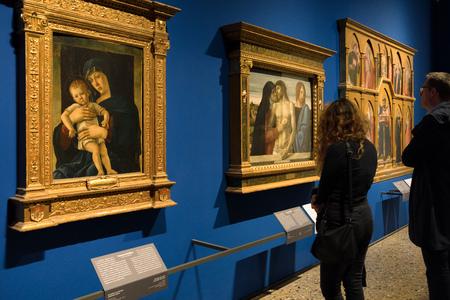 MILAN, ITALY - APRIL 14:  Giovanni Bellini paintings  in gallery Pinacoteca di Brera on April 14,2 018 in Milan
