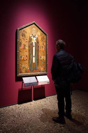 MILAN, ITALY - APRIL 14: Icon in gallery Pinacoteca di Brera on April 14,2 018 in Milan