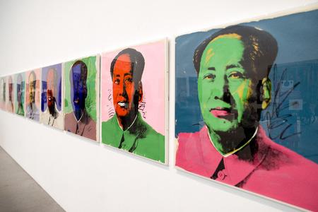 LONDON, UNITED KINGDOM - MAY 12: Andy Warhol screenprint Mao Tse-Tung at Tate modern on May 12, 2018 in London