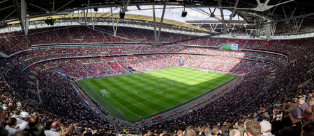 LONDON, UNITED KINGDOM - MAY 13: Rootball match in stadium Wembley on May 13, 2018 in London Editorial