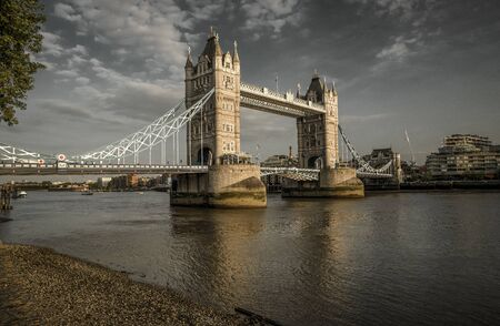 Tower bridge and river Thames in London, Great Britain