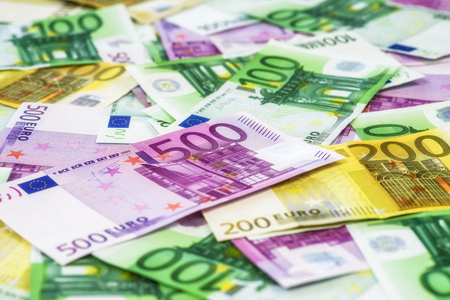 Different euro cash money banknotes 스톡 콘텐츠