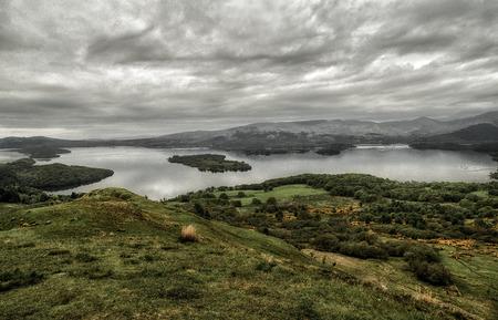 Beautiful scottish landscape. Lake Loch Lomond