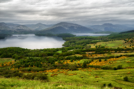 View from Conic hill on Loch Lomond, Scotland Stok Fotoğraf