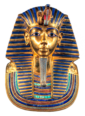 Isolated egyptian Tutankhamun's burial mask
