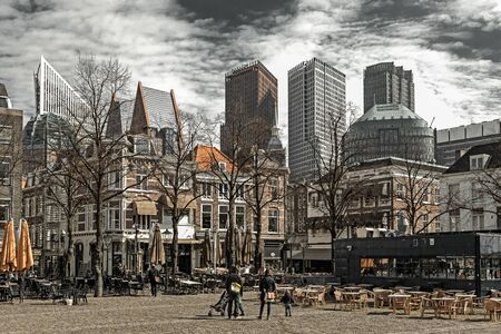 DELFT, NETHERLANDS - MARCH 25:  Square in centre of city on March 25, 2013 in Delft Editorial