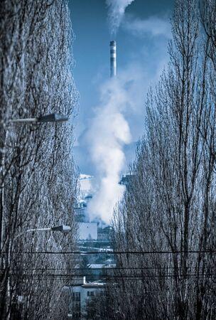 Air pollution at town Ruzomberok, Slovakia