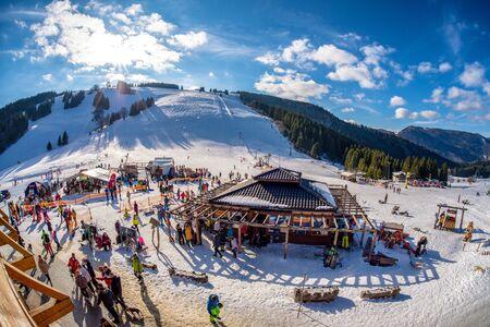 RUZOMBEROK, SLOVAKIA - FEBRUARY 15: Ski resort Malino Brdo on February 15, 2020 in Ruzomberok