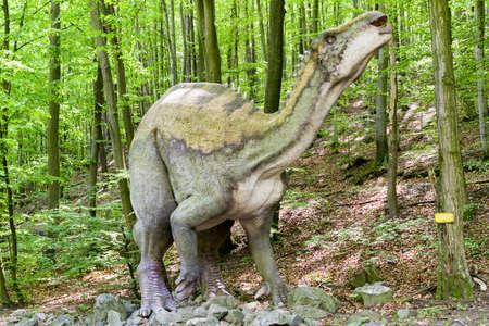 KOSICE, SLOVAKIA - MAY 12: Model of dinosaur in Dinopark at Zoo Kosice on May 12, 2019 in Kosice