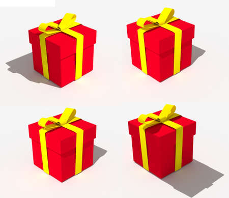 resource: Red gift box Christmas for resource edit Stock Photo