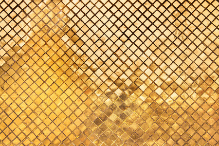 the grand palace: Gold abstract texture background  - Golden ceramic tile in The Grand Palace   Wat Phra Kaew  The Emerald Buddha Temple , Bangkok, Thailand Stock Photo