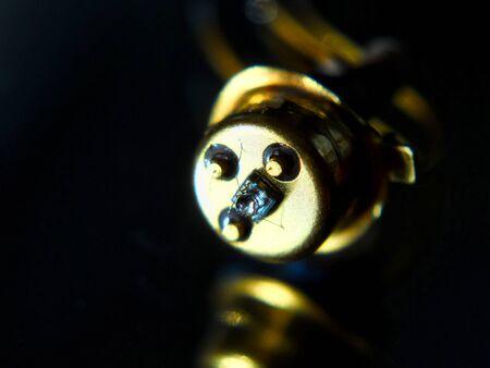 Old laser diode in the dark - close up Reklamní fotografie