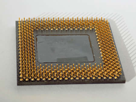 Microprocessor gold contacts
